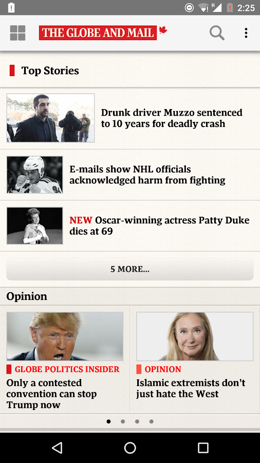 The Globe and Mail: News Screenshot 0