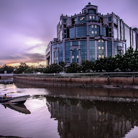 the mall gadong by Cristopher Selga - Buildings & Architecture Public & Historical ( shoppping, reflection, sunset, gadong, mall )