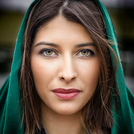 Green by Samir Zahirovic - People Portraits of Women ( #portrait, #beauty, #woman, #model, #face, #girl, #beautiful, #eye, best female portraiture )