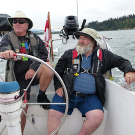 Sailing by Charlene Wiebe - People Portraits of Men