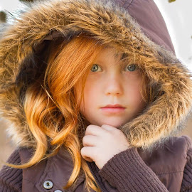 winter fire by Alisa German - Babies & Children Child Portraits ( little girl, red hair, children, kids )