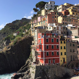 Cinque Terre by Holly Lent - Buildings & Architecture Other Exteriors ( water, cinque terre, colorful, buidings, buildings, ocean, coastal, italy )