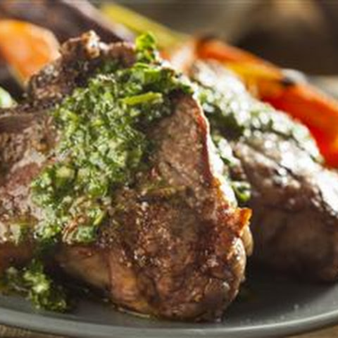 Grilled Lamb Chops With Mint & Coriander Pesto