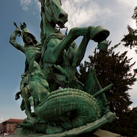 by Miro Cindrić - Buildings & Architecture Statues & Monuments ( soldier, statue, horse, dragon, roman )