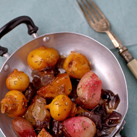 Braised Baby Turnips And Radishes