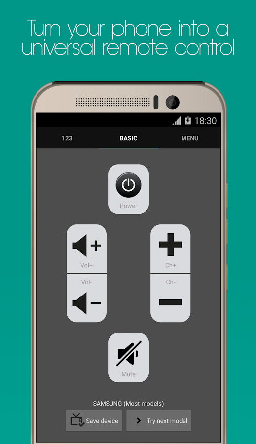 Universal Remote for HTC One Screenshot 0