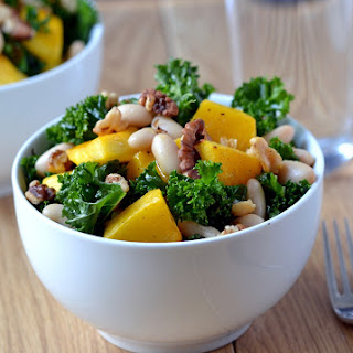 Autumn Kale Salad (with Roast Pumpkin & Walnuts)