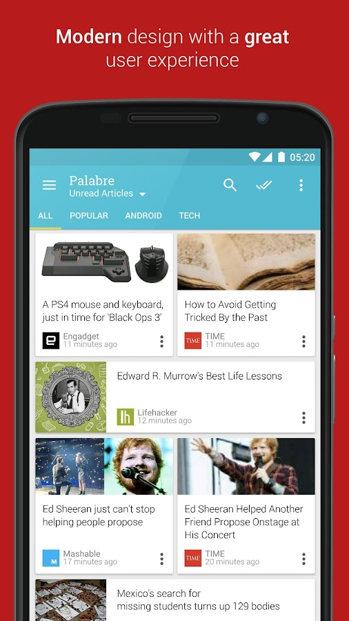 Palabre Feedly RSS Reader News Screenshot