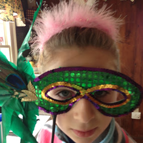 Masquerade by Erin Meisner - Novices Only Portraits & People ( girls, tween, masquerade, play, dress up, mask, feminine, fun,  )