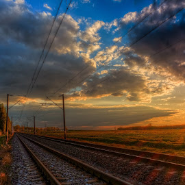 endless railroad by Cornelius D - Transportation Railway Tracks