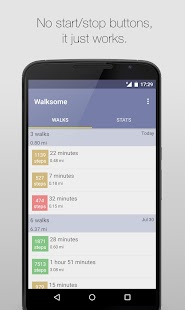 Walksome - gps step counter Fitness app screenshot for Android