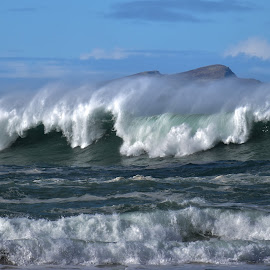 Waves by Barbara Walsh - Landscapes Waterscapes ( ireland, strong, waves, weather, power, sea, beach, atlantic )