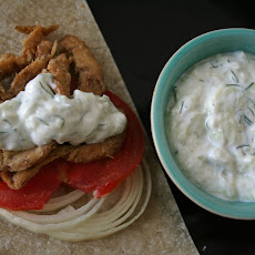 Vegan Gyros with Tzatziki