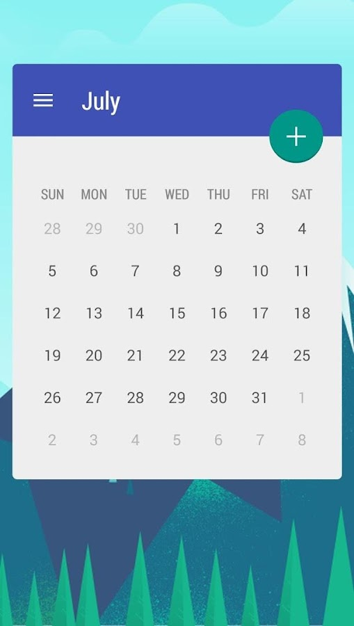 Calendar Widget: Month Screenshot 1