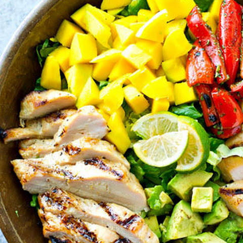 Hawaiian Grilled Chicken Mango Salad with Citrus Vinaigrette