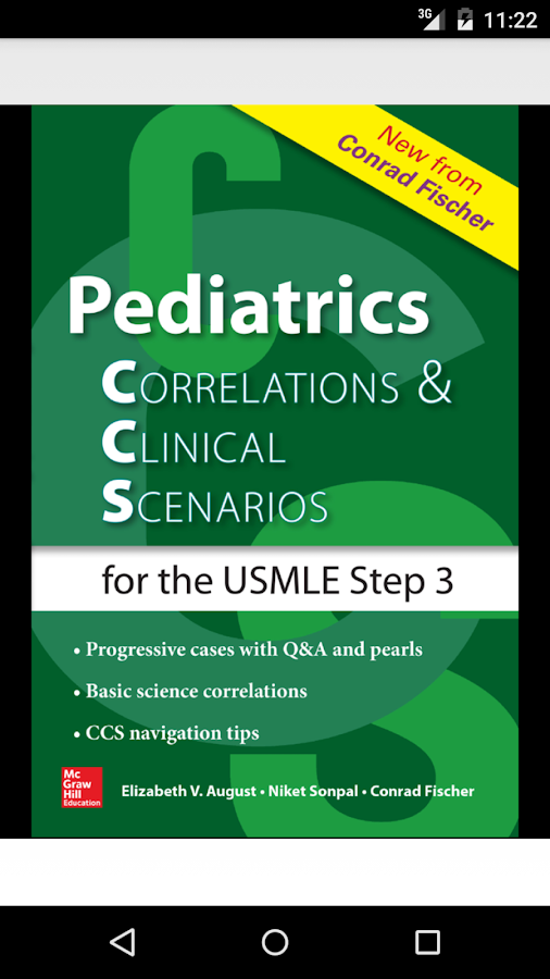 Pediatrics CCS USMLE Step 3 Screenshot