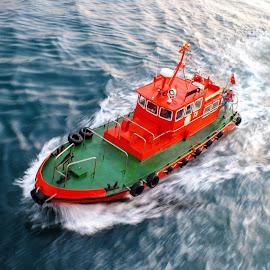 Pilot boat by Dmitrii Chemerik - Transportation Boats ( pilot boat, harbor, loodsman, bosforus, sea )