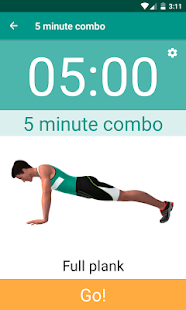 Plank Timer Fitness app screenshot for Android