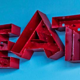 eat by Lennie Locken - Artistic Objects Signs