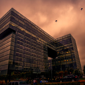 Offices at Mexico city by Cristobal Garciaferro Rubio - Buildings & Architecture Office Buildings & Hotels ( clouds, mexico city, mexico, office building, santa fe )