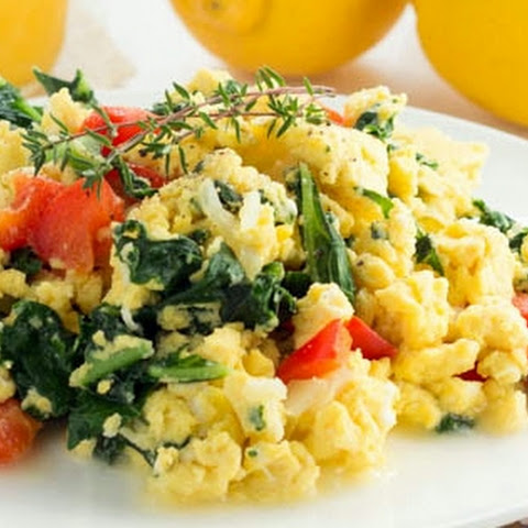 Kale, Egg and Cheese Scramble