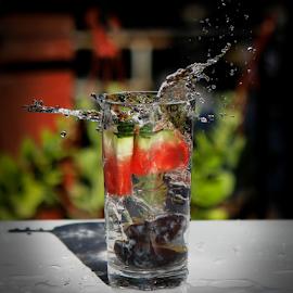 by Suzana Trifkovic - Food & Drink Alcohol & Drinks ( water, fruit, splashing )