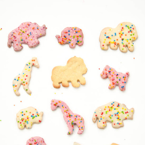 Homemade Frosted Circus Animal Cookies