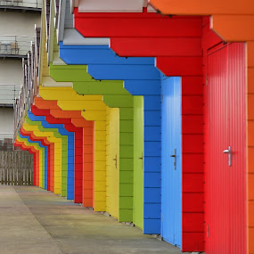 by Eloise Rawling - Abstract Patterns ( patterns, beach huts, colours,  )