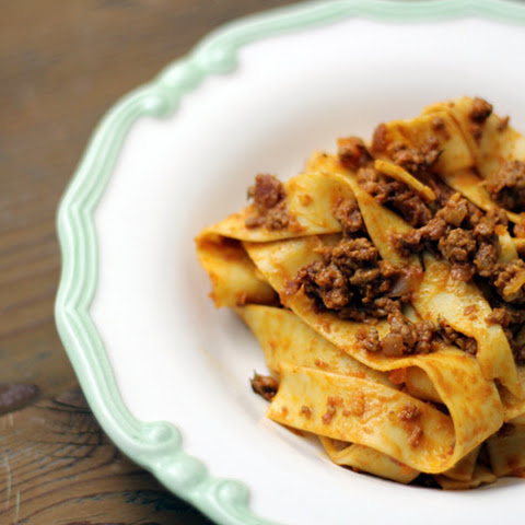 Ragu Bolognese with Pappardelle