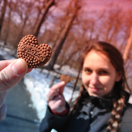 Love in the act by Marko Petrović - People Couples ( love, budapest, heart, bisquits, coookies, normafa )