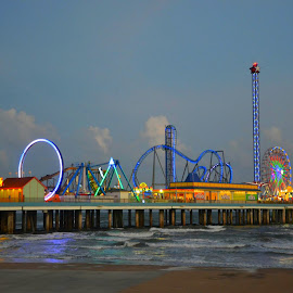 Pleasure Pier by Brenda Shoemake - City,  Street & Park  Amusement Parks (  )