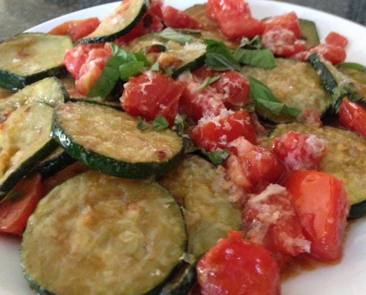 Sauteed Zucchini & Tomatoes with Parmesan Recipe | Yummly