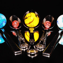 spoons and marbles by Peter Salmon - Artistic Objects Cups, Plates & Utensils