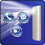 Flash Alert on SMS and Call Icon