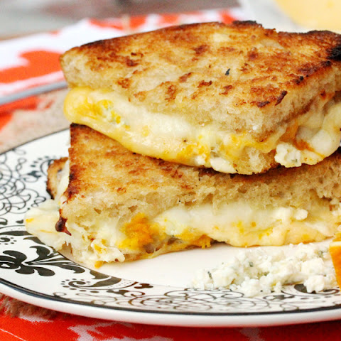 Three Cheese and Orange Zest Sandwich Grilled on the BBQ