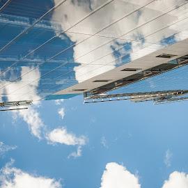 Looking up in dublin 1 by Paul Holmes - Buildings & Architecture Office Buildings & Hotels ( dublin, nikon d700.nikon 35mm f2 )