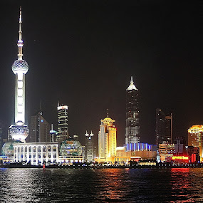 Pudong, Shanghai by Robert Burger - City,  Street & Park  Skylines