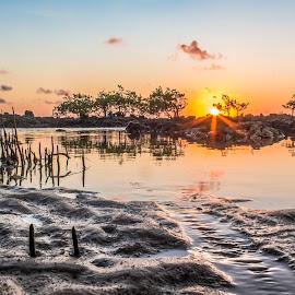 Dawn, Natal-RN by Rqserra Henrique - Landscapes Sunsets & Sunrises ( brazil, dawn, natal, rqserra, beach, reflex, sun )