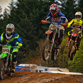 Here We Are ! by Marco Bertamé - Sports & Fitness Motorsports ( mud, jumping, motocross, clumps, trio, race, competition,  )
