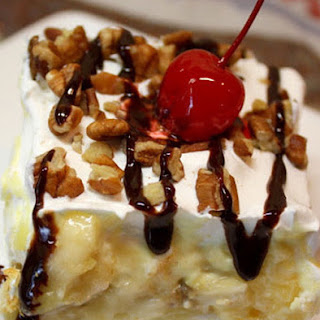 Banana Split No Bake Dessert