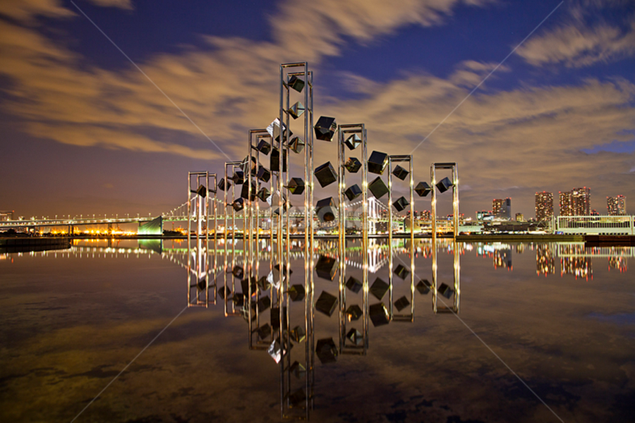 Harumi Futo by Nyoman Sundra - City,  Street & Park  Historic Districts ( reflection, harbour, beautiful, tokyo, night, city )