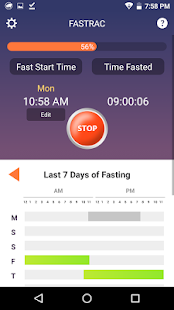 FasTrac - Fasting tracker Fitness app screenshot for Android