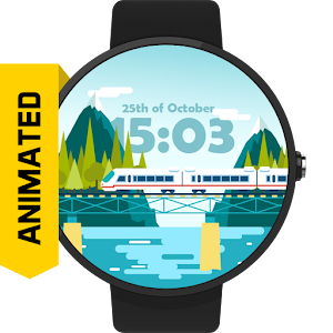 Train Animated Watch Face FWF