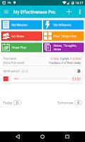 Screenshot of MyEffectiveness: Tasks, To-do
