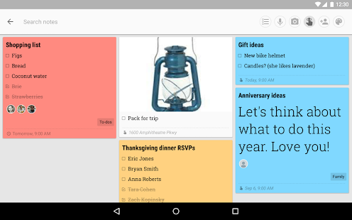 how to sync google keep with android