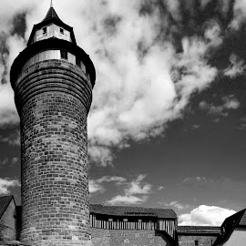 Nurnberg by Oleksii Liebiediev - Buildings & Architecture Public & Historical ( nurnberg, tower, bavaria, black and white, germany )