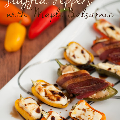 Cheese Stuffed Peppers with Maple Balsamic