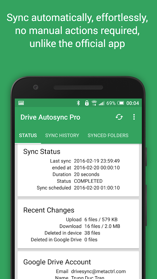 Autosync Google Drive Screenshot 1