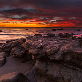 Bruce's Beauties by Clive Wright - Landscapes Sunsets & Sunrises ( orange, dawn, cloud, ocen, sea, sunrise )