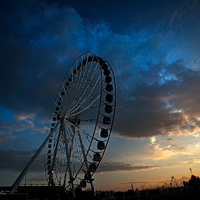 Big Eye by Cristobal Garciaferro Rubio - City,  Street & Park  City Parks ( wheel, great wheel, mexico, puebla, big eye )